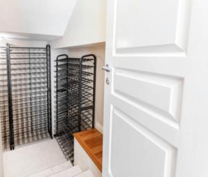 Internal wine cellar door