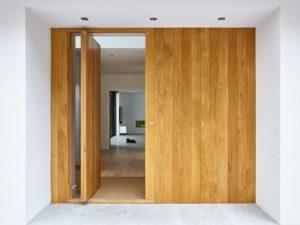 Wood pivot door