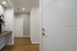 Door handles fitted