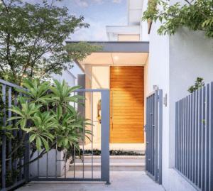 Cedar entrance door